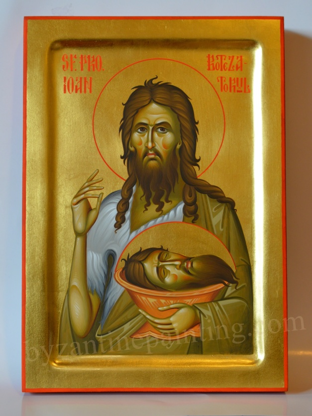 Sfantul Ioan Botezatorul Icoana pictata s1