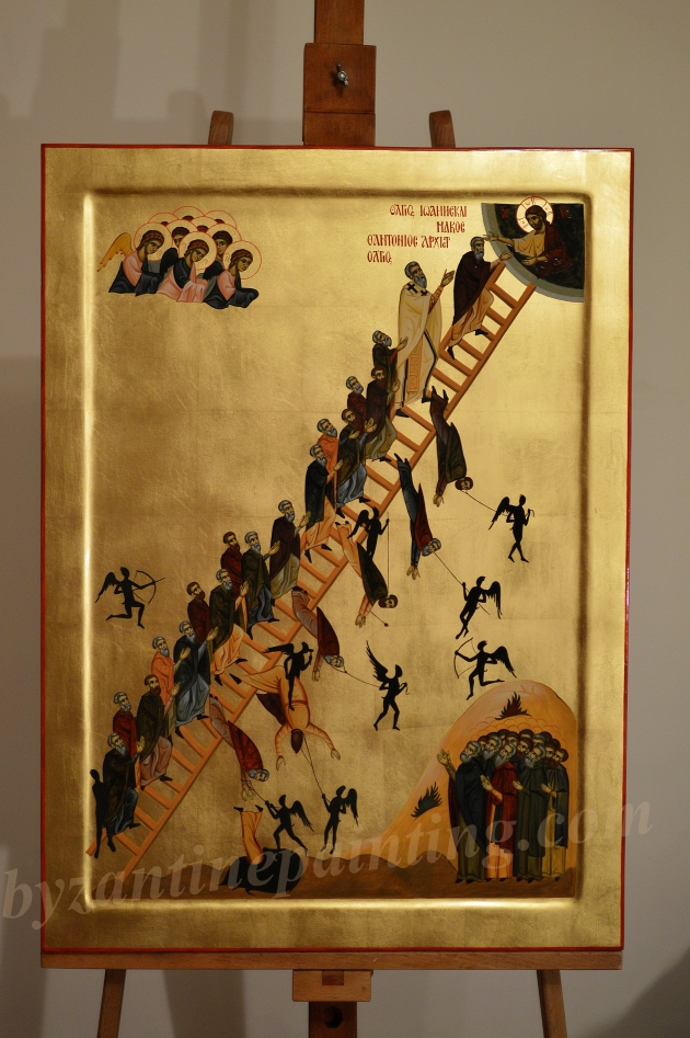Icoana Scara Virtutilor Icon The Ladder of Divine Ascent