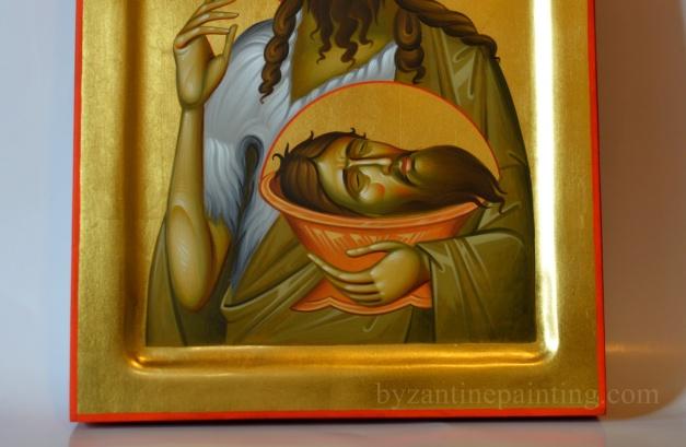 Detaliu Icoana Sfantul ioan Botezatorul
