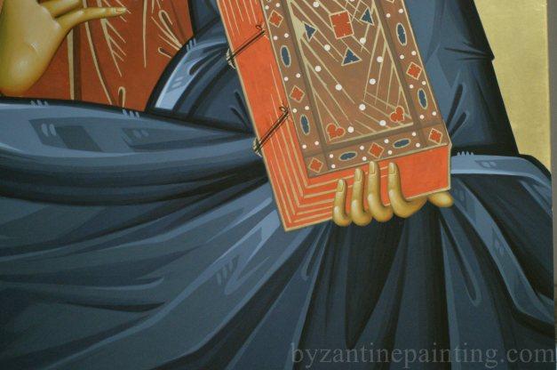 Icoana Iisus Hristos. Jesus Christ Pantocrator- byzantine icon (1)